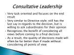 consultative leadership