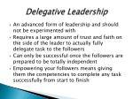 delegative leadership