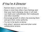 if you re a director