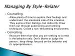 managing by style relater1
