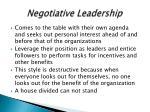 negotiative leadership
