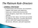 the platinum rule directors