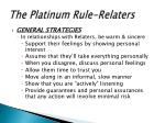 the platinum rule relaters