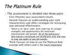 the platinum rule3