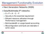 management functionality evolution1