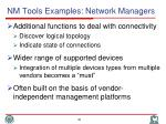 nm tools examples network managers