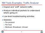 nm tools examples traffic analyzer