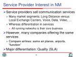 service provider interest in nm