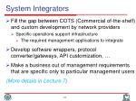 system integrators1