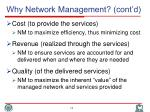why network management cont d1