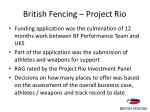 british fencing project rio