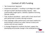 context of uks funding