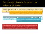 prussia and russia threaten the balance of power