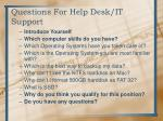 questions for help desk it support