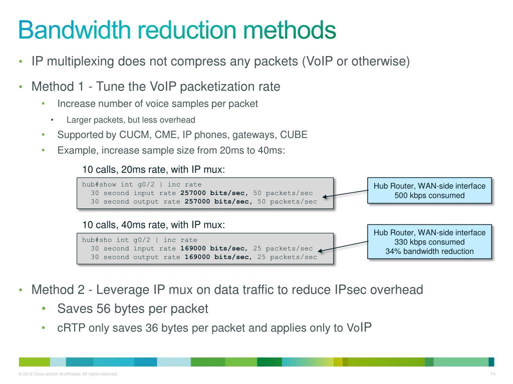 PPT - Cisco IP Multiplexing PowerPoint Presentation - ID:1660998