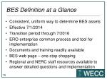 bes definition at a glance