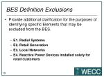 bes definition exclusions