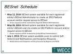 besnet schedule