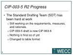 cip 003 5 r2 progress
