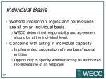 individual basis