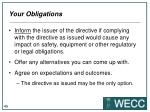 your obligations