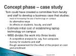 concept phase case study