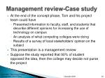 management review case study
