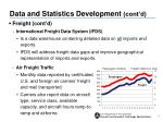 data and statistics development cont d1