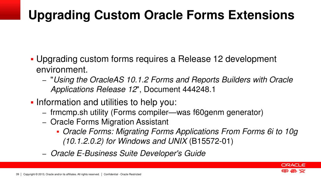 PPT - Upgrading your Customizations to Oracle E-Business Suite