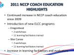 2011 nccp coach education highlights