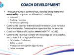 coach development