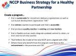 nccp business strategy for a healthy partnership
