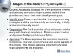 stages of the bank s project cycle i