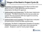 stages of the bank s project cycle ii