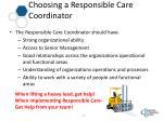 choosing a responsible care coordinator