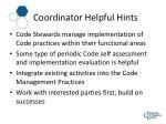 coordinator helpful hints1