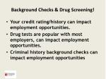 background checks drug screening