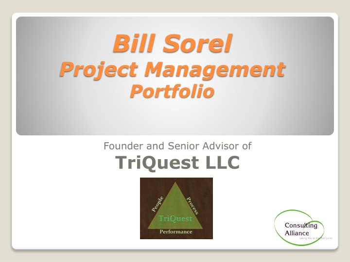bill sorel project management portfolio n.
