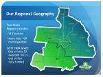 our regional geography