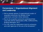 cornerstone 1 organizational alignment and leadership
