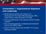 cornerstone 1 organizational alignment and leadership1