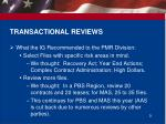 transactional reviews
