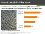 example walkability urban sprawl