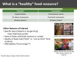 what is a healthy food resource