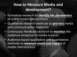 how to measure media and development
