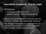 journalism of poverty charity angle