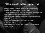 who should address poverty