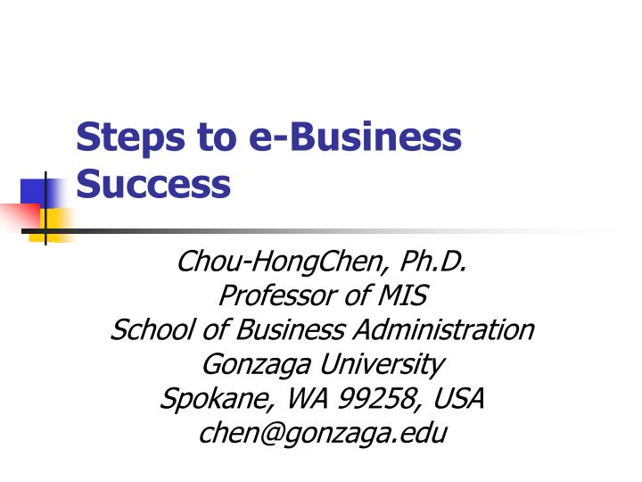 steps to e business success n.