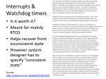 interrupts watchdog timers