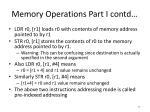memory operations part i contd
